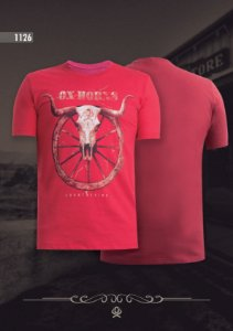 Camiseta Ox Horns Masculina Vermelha 1126