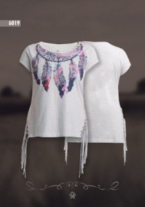 Camiseta Ox Horns Feminina Mescla 6019
