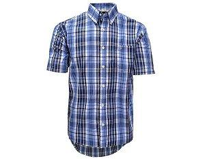 Camisa Tuff Masculina Xadrez Azul Marinho 1022C