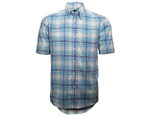Camisa Tuff Masculina Xadrez Azul Clara 1016C