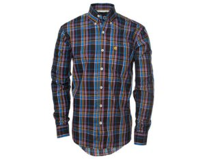 Camisa Tuff Masculina Preta Listrada Azul 1028L