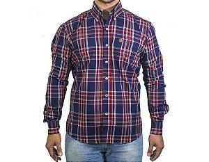 Camisa Tuff Masculina Azul Marinho E Vermelha 1035L
