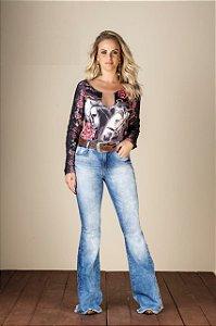 Calça Jeans Minuty Feminina Flare 19422