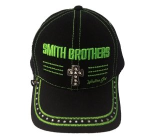 Boné Smith Brothers Cruz Preto E Verde Limão