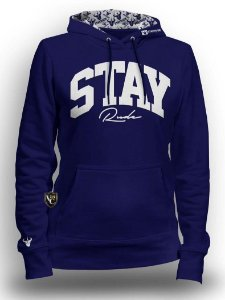 MOLETOM STAY RUDE FEM. AZUL ROYAL SRF006