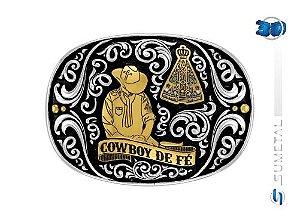Fivela Sumetal Nossa Senhora - Cowboy De Fe 10630Fj Pd G