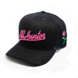 Boné All Hunter Preto Rosa 709