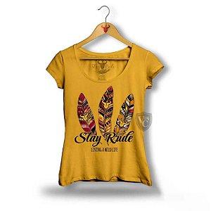 Camiseta Stay Rude Feminina Verde Musgo 2004
