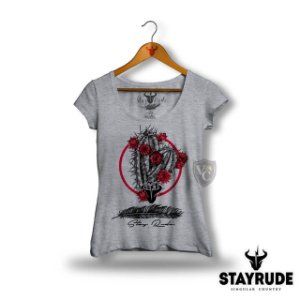 CAMISETA STAY RUDE FEMININA CINZA 2024