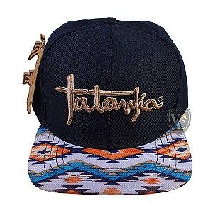 Bone Tatanka Aba Navajo Azul Marinho Ttk100151