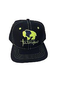 Bone Tatanka Bison Azul Marinho Linhas Verdes Ttk100188