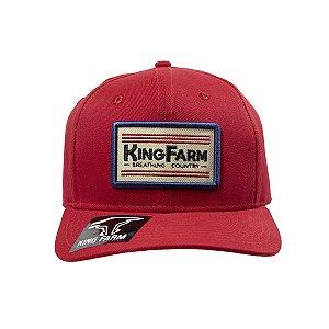 Boné King Farm Vermelho Kf836