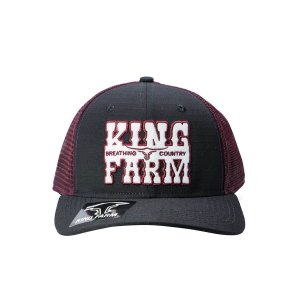 Boné King Farm Preto Tela Vermelha Kf859