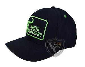 Bone Smith Brothers Azul Marinho Detalhes Verdes