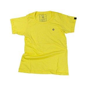 Camiseta Tuff Fem. Amarelo Bordado Lilas 1289