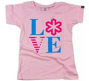 Camiseta Tuff Fem. Rosa Bebe Silk Love 1209