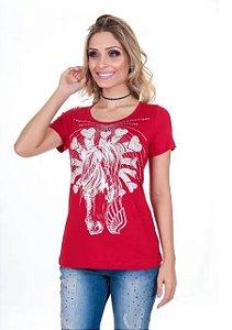 Camiseta Zenz Western Red Velvet ZW0318025