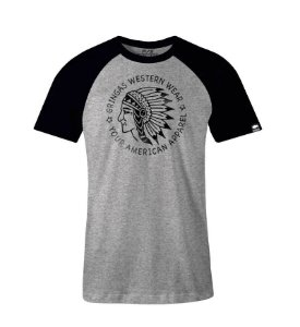 Camiseta Gringas Raglan Gunm Blk Chief 9070