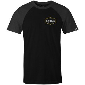 Camiseta Gringas Raglan Char Blk Cowboy Supply 9080