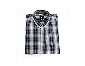 Camisa Tuff Masc MC Xadrez Verde e Cinza SC1450