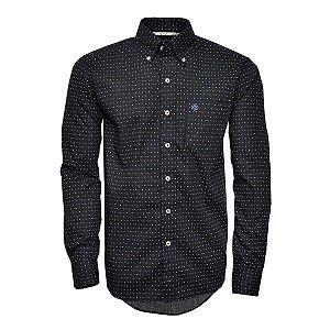 Camisa Tuff Masc ML Preta Print Quadrado SL1020L