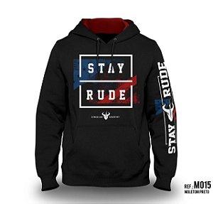 Moletom Stay Rude Masculino Preto M015