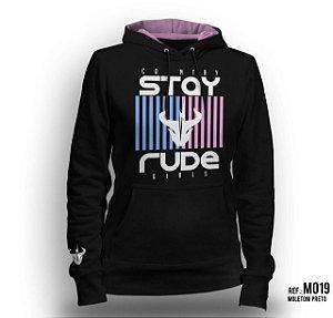 Moletom Stay Rude Feminino Preto M019