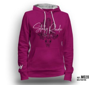 Moletom Stay Rude Feminino Pink M020