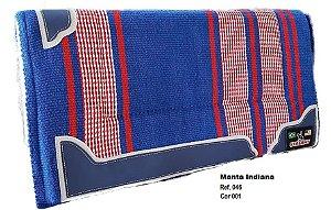Manta Indiana Stalony Azul e Vermelho 46001