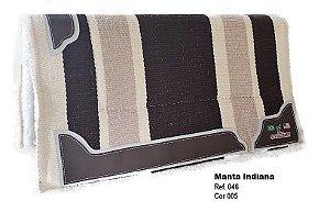 Manta Indiana Stalony Bege e Marrom 46005