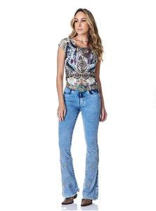Calça Jeans Minuty Feminina Cós Medio 20665