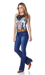 Calça Jeans Minuty Feminina Cós Medio 20741