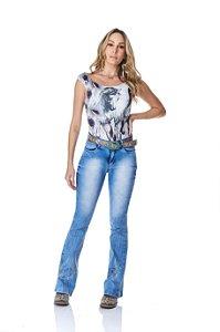 Calça Jeans Minuty Feminina Cós Medio 20736