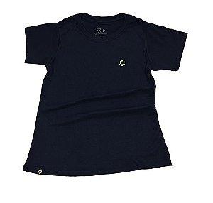 Camiseta Tuff Fem Marinho Logo Verde Limão TS2484