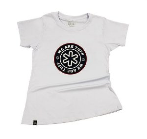 Camiseta Tuff Fem Branca Silk Marinho TS2520