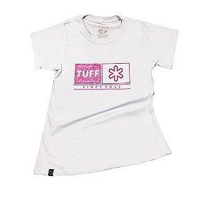 Camiseta Tuff Fem Branca Estampa Pink TS2535