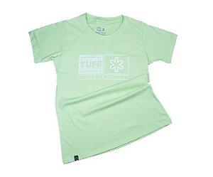Camiseta Tuff Fem Verde Silk Branco