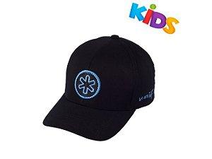 Boné Tuff Elite Kids Preto Logo Circle Azul