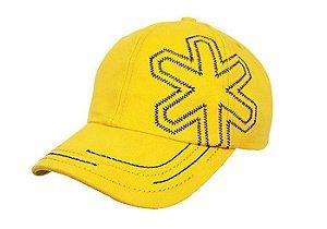 Boné Tuff Breezy Amarelo Logo Bordado Azul