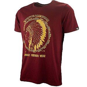 Camiseta Gringas Masculina Native American Vermelha