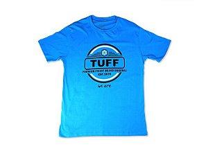 Camiseta Tuff Masculina Azul Silk Branco e Preto