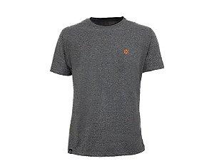 Camiseta Tuff Masculina Mescla Logo Laranja