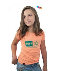 Camiseta Tuff Infantil Salmão Silk Turquesa