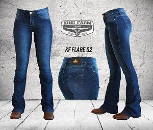 Calça Jeans King Farm Feminina Flare Stone