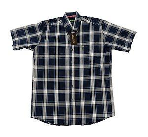 Camisa Bucks Masc. M/C Azul e Cinza BWMMC2102