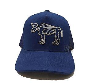 Boné Aurochs Azul Marinho Logotipo Branco 210005