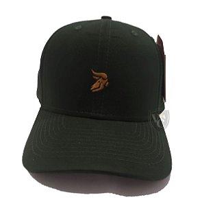Boné Aurochs Verde Musgo Logotipo Dourado 210021