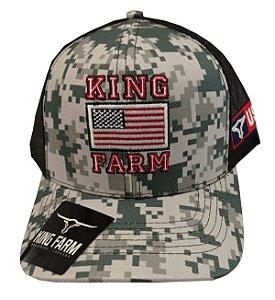 Boné King Farm Camuflado Bandeira KF14