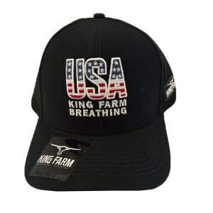 Boné King Farm Preto Breathing USA KF202021