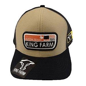 Boné King Farm Areia Austin Texas KF33